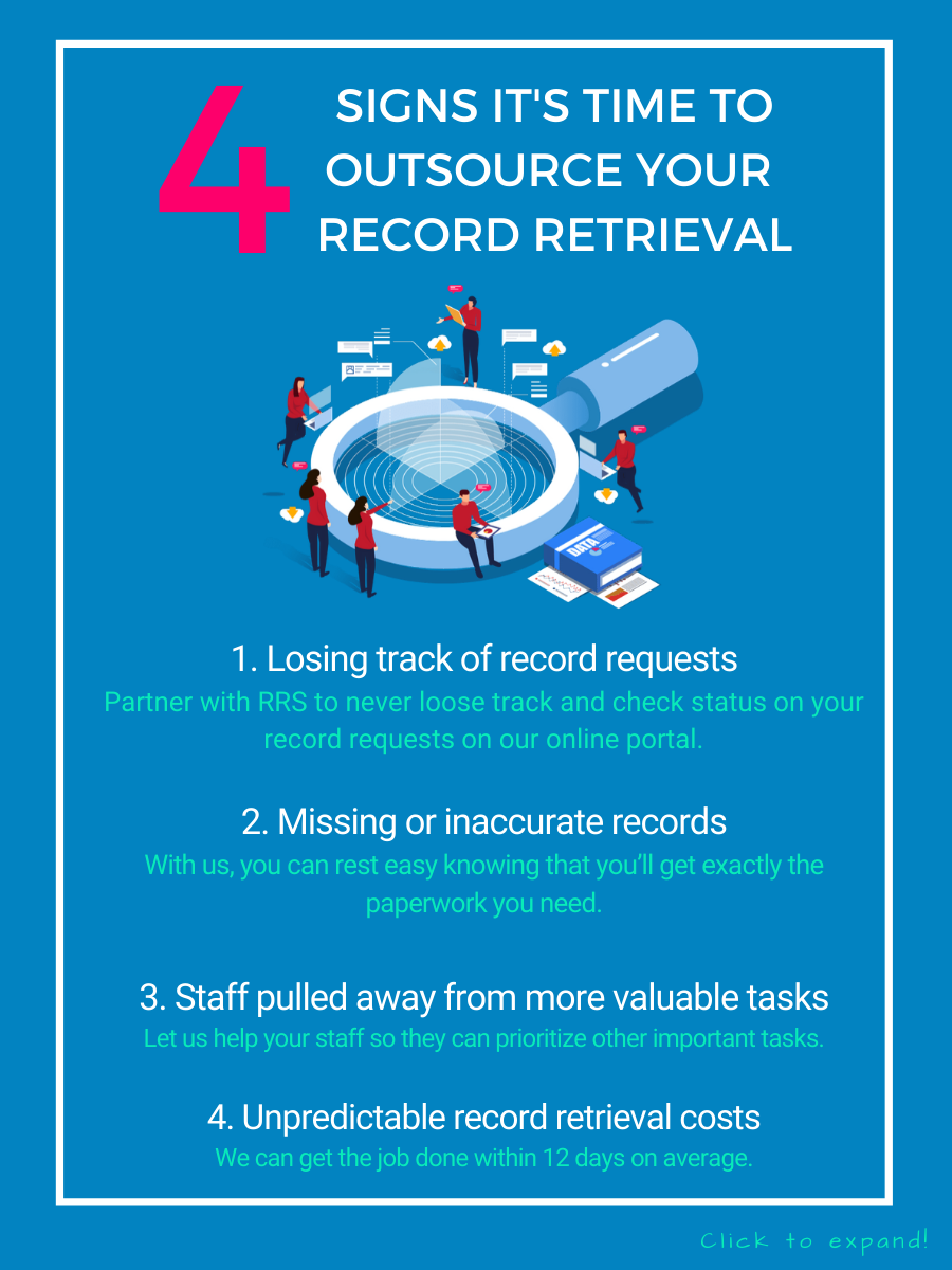 4 Signs it's time to outsource record retrieval